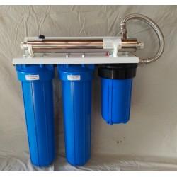 Kit filtration 1360 L/H, 3 modules Big BLue + UV 20W