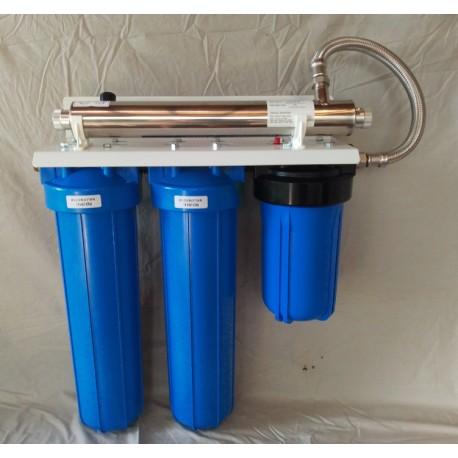 Kit filtration 3 modules Big Blue + UV 20W